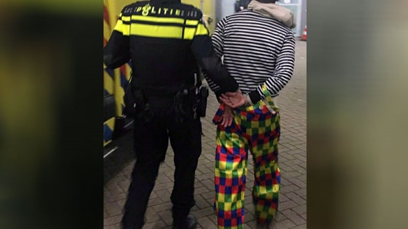 de killer clown foto politie charlois